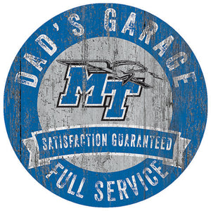 Middle Tennessee State Dad's Garage Sign