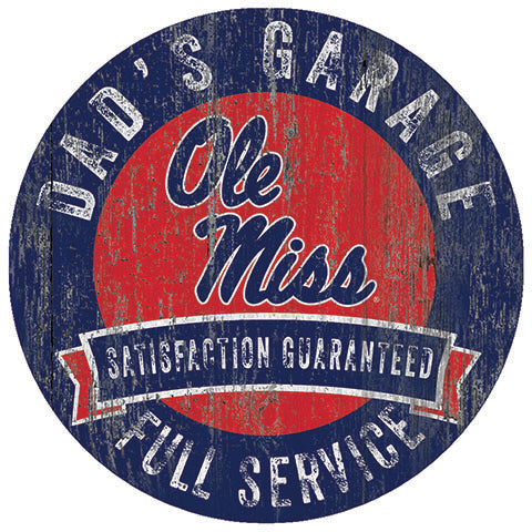 Ole Miss Dad's Garage Sign