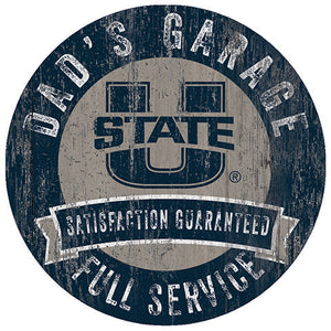 Utah State Dad's Garage Sign