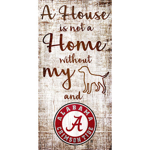 University of Alabama House is Not a Home 6 x 12 Sign