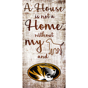 University of Missouri House is Not a Home 6 x 12 Sign