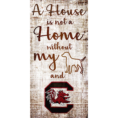 University of South Carolina House is Not a Home 6 x 12 Sign