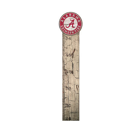 University of Alabama Growth Chart Sign 6x36
