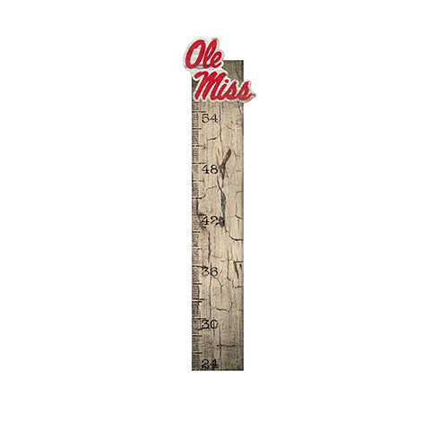Ole Miss Growth Chart Sign 6x36