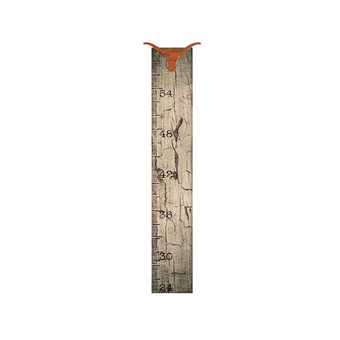 University of Texas Growth Chart Sign 6x36