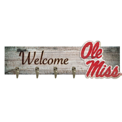 Ole Miss Coat Hanger 6x24