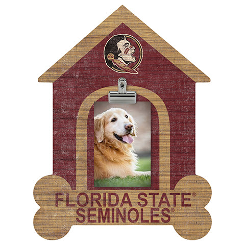 Florida State University Dog Bone House Clip Frame
