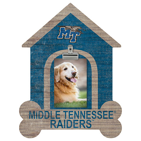 Middle Tennessee State Dog Bone House Clip Frame
