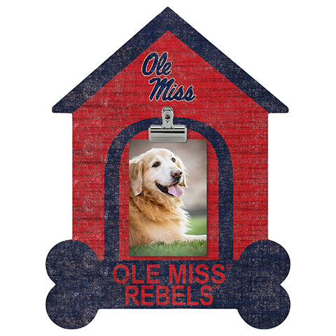 Ole Miss Dog Bone House Clip Frame