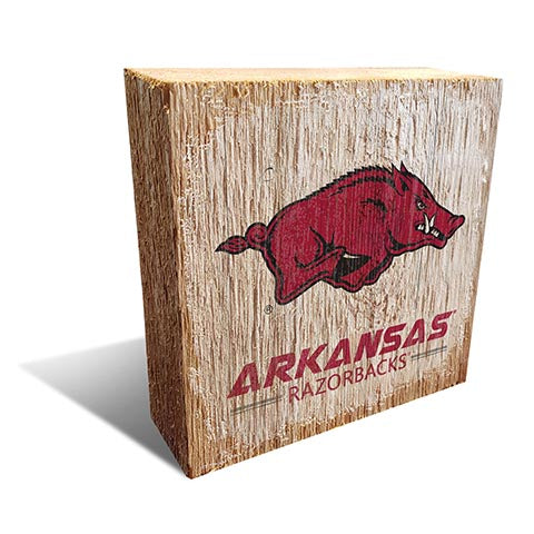 University of Arkansas Team Logo Block 6X6