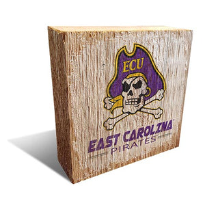 East Carolina  Team Logo Block 6X6