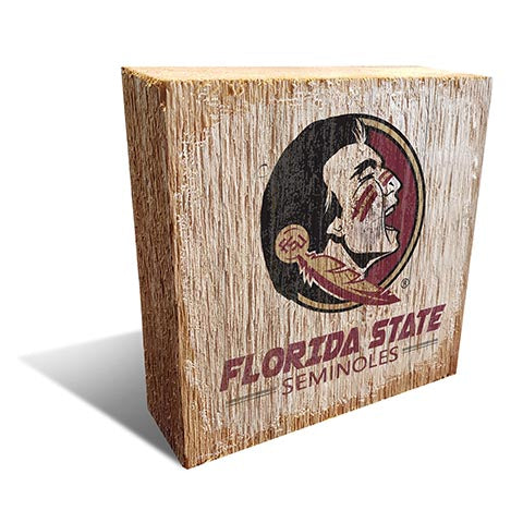 Florida State Team Logo Block 6X6