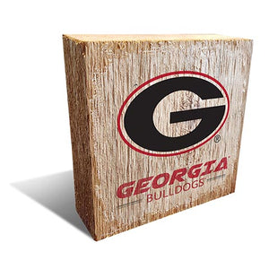 University of Georgia Team Logo Block 6X6
