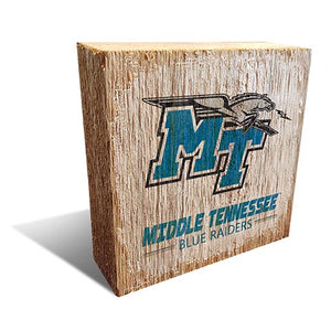 Middle Tennessee State  Team Logo Block 6X6