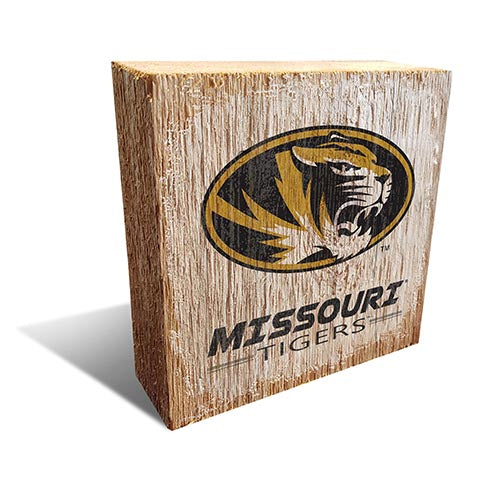University of Missouri Team Logo Block 6X6