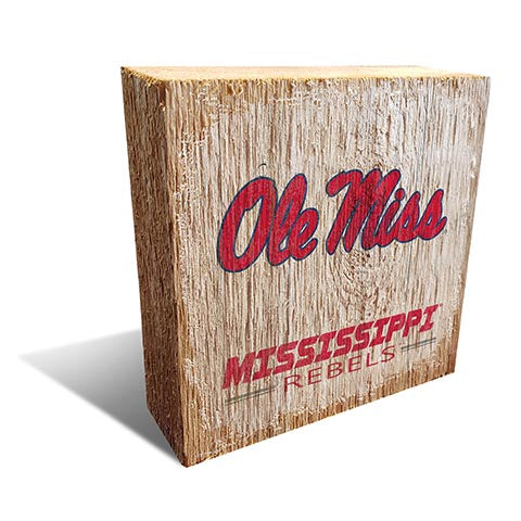 Ole Miss Team Logo Block 6X6
