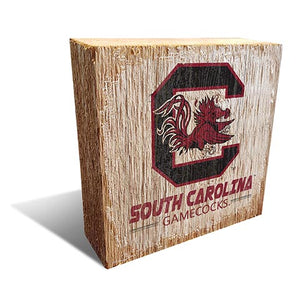 University of South Carolina Team Logo Block 6X6