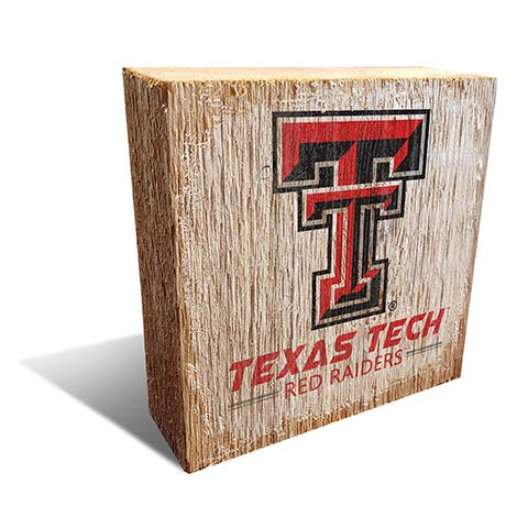 Texas Tech University Team Logo Block 6X6