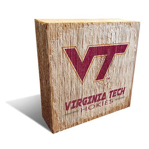 Virginia Tech University Team Logo Block 6X6