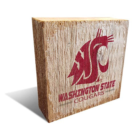 Washington State  Team Logo Block 6X6