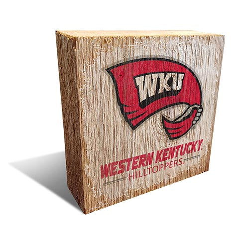 Western Kentucky  Team Logo Block 6X6