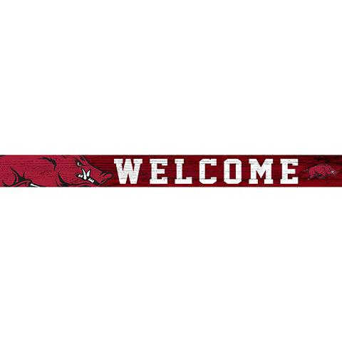 University of Arkansas 16in. Welcome Strip