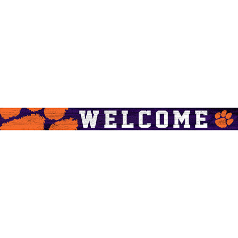 Clemson University 16in. Welcome Strip