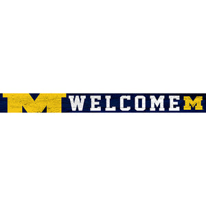 University of Michigan 16in. Welcome Strip