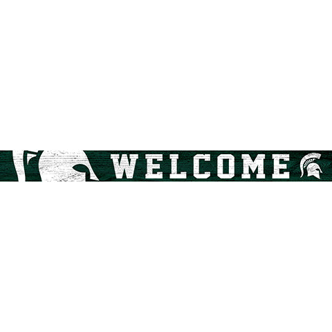 Michigan State 16in. Welcome Strip