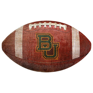 "Baylor 12"" Football Shaped Sign"