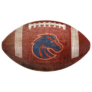 "Boise State 12"" Football Shaped Sign"