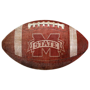"Mississippi State University 12"" Football Shaped Sign"