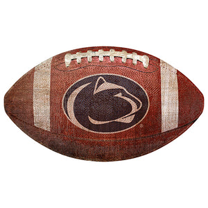 "Penn State University 12"" Football Shaped Sign"