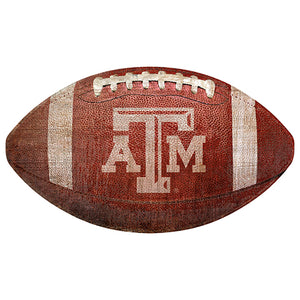"Texas A&M University 12"" Football Shaped Sign"
