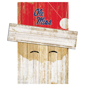 Ole Miss Santa Head