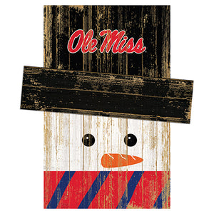 Ole Miss Snowman Head