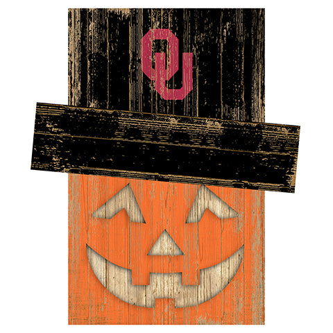 University of Oklahoma Pumpkin Head w/Hat