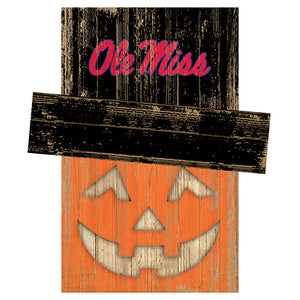 Ole Miss Pumpkin Head w/Hat