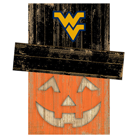 West Virginia University Pumpkin Head w/Hat