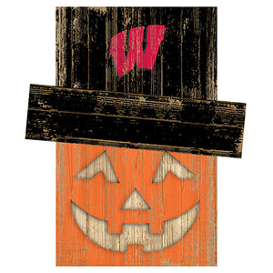 University of Wisconsin Pumpkin Head w/Hat