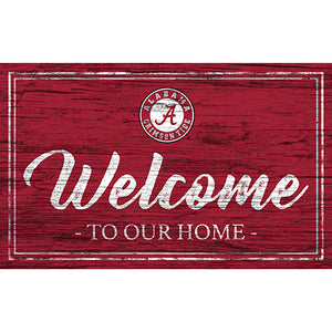 University of Alabama Team Color Welcome 11x19 Sign