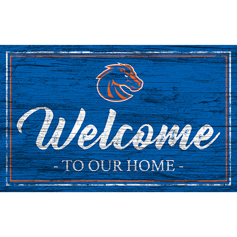 Boise State Team Color Welcome 11x19 Sign