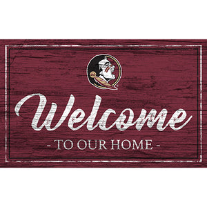 Florida State Team Color Welcome 11x19 Sign