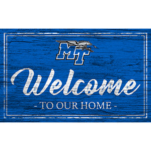 MTSU Team Color Welcome 11x19 Sign