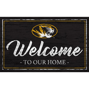 University of Missouri Team Color Welcome 11x19 Sign
