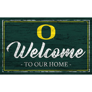 University of Oregon Team Color Welcome 11x19 Sign