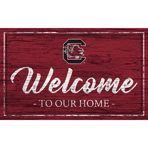 University of South Carolina Team Color Welcome 11x19 Sign