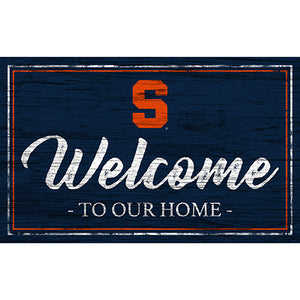 Syracuse Team Color Welcome 11x19 Sign