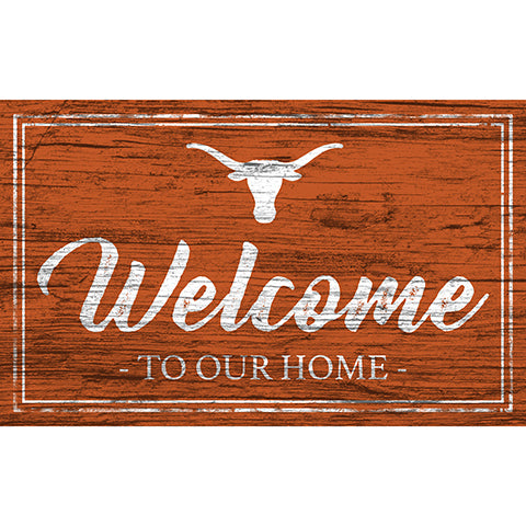 University of Texas Team Color Welcome 11x19 Sign