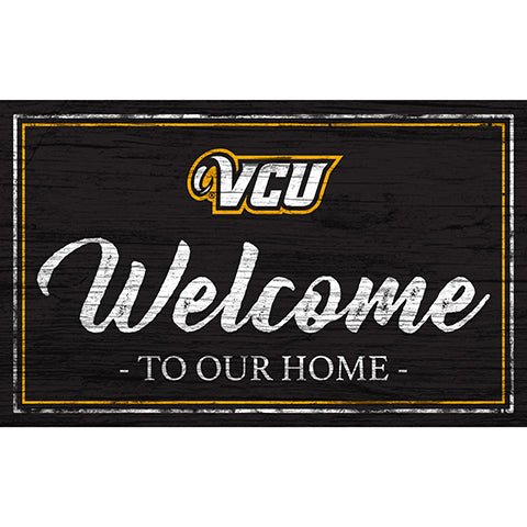VCU Team Color Welcome 11x19 Sign